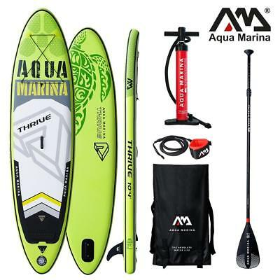 Aqua Marina Thrive Sup Gonflable Stand Up Planche Pagaie 150mm Épais Sport