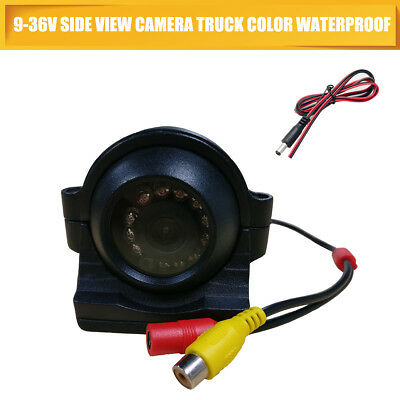 Bus Heavy Duty Side View Camera Truck Color Waterproof RCA 9-36V 12IR LEDs
