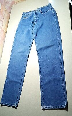 Women's Junior's Calvin Klein Relaxed Easy Fit Buttonfly Denim Blue Jeans Size 5