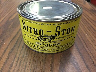 Nitro-Stan 9001 Red Spot Putty & Glazing Putty Tube Lacquer 3 Pound Can
