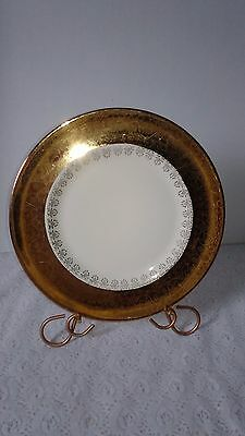 """Vintage Antique 11"""" Plate Royal American China 22 k Gold Service Plate"""