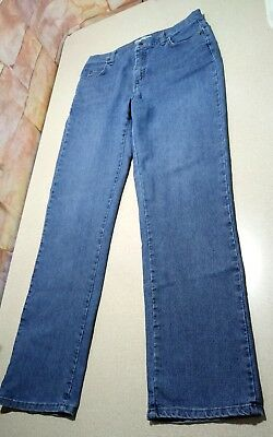 Women's LEE Relaxed At The Waist Straight Stretch Denim Blue Jeans Size 10