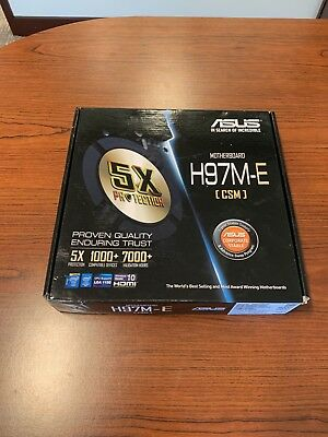 New In Box - Asus H97M-E - Includes Cables, Backplate, Manual, and Motherboard!!