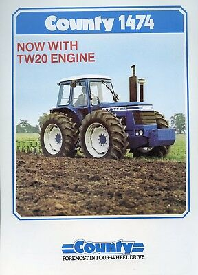 County Tractors 1474 sales leaflet