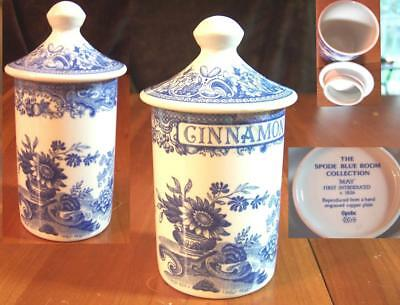 Spode Blue Room Spice Jar choice Nutmeg Parsley Thyme Sage Cinnamon Rosemary Bay