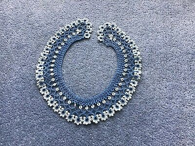 Beautiful Hand Crafted  Vintage Tatted Collar