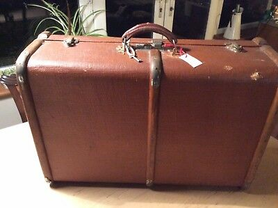 1930's Art Deco Vintage Steamer Trunk Chest Suitcase Brentwood Style