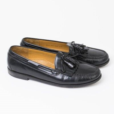 4068eb2685a Cole Haan Men s 10.5 D Black Leather Loafers Pinch Shawl Kilt Tassels No.  C02691