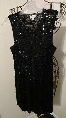 Pea In The Pod Black Sequin Top ~ Holiday ~ New Year ~ Size L