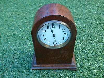 Oak Wooden Vintage Dome Top Mantle Clock  Spares Parts Repairs Project