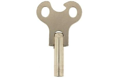 Nickeled Steel Winding Key for Antique Clock #7 (3.8mm)