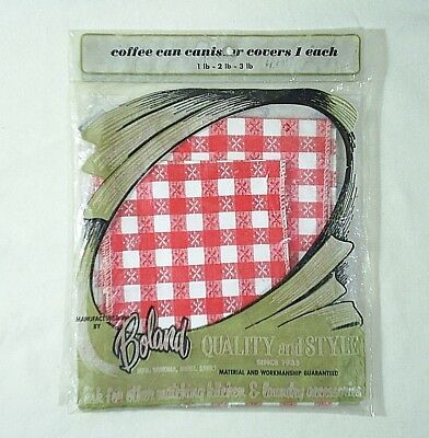 Kitchen Cover Coffee Can For 1 to 3 pound 60's to 70's New Old Stock Vintage