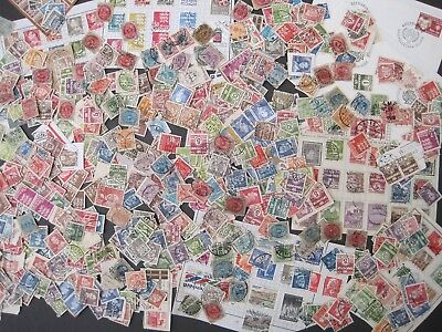 Denmark Collection/Kiloware 450+ est stamps. Early Era Onwards.