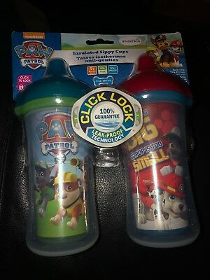 Paw Patrol Insulated Sippy Cups 9 Oz Spill Proof Bpa Free click lock Munchkin