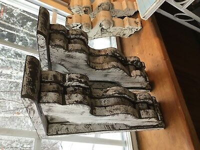 Set Of 2 Rugged Rustic victorian wood corbels med.