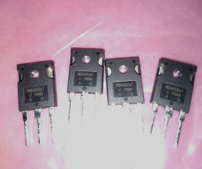 Qty 4-vishay MBR4060WT-Schottky Diode Array 1 Pair Common Cathode 60V, 20A