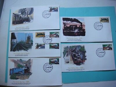 16-May-1979-Melbourne Aust -The golden age of Steam set of 5- FDC lot#394