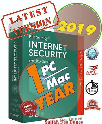 Kaspersky Internet Security 1PC 1YR ⚡ World Wide ⚡ 19-20 ⚡ Instant Delivery ⚡️