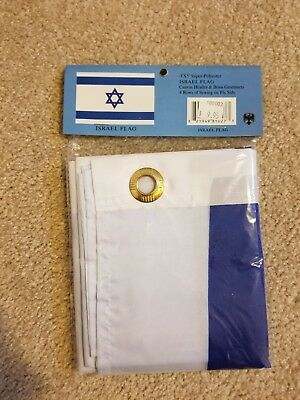 New in Package Polyester Israel Flag  3 x 5