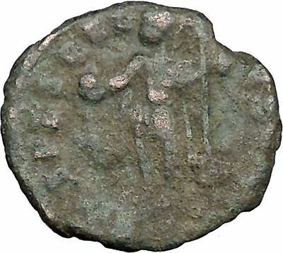 CONSTANTIUS II Constantine the Great son w globe Ancient Roman Coin  i33031