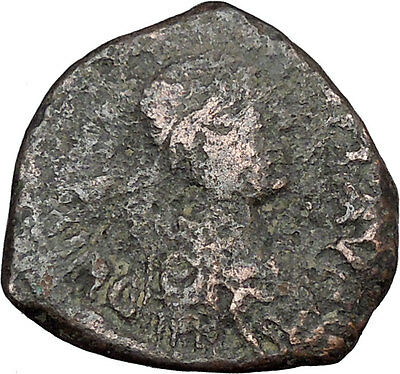 JUSTINIAN I 527AD Authentic Ancient  Medieval Byzantine Coin Large K   i38906