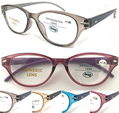 L885 Superb Stylish Bright-Colored Plastic Reading Glasses Spring Hinge Designed