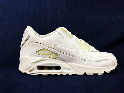 buy popular 16c34 b3425 Nike Air Max 90 Leather Mens Size US 8 True White Casual Shoes 302519-113