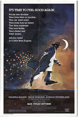 Max Dugan Returns 1983 27x40 Orig Movie Poster FFF-68485 Rolled Donald Suther...