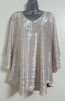 NEW Plus Size 16-24 Brown Batwing Dipped Hem Tunic Dress Top Blouse