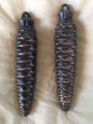 Two Cuckoo Clock Weights, Pine cone Shape, 320 E.T.