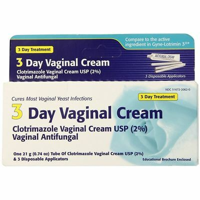 Clotrimazole 3 Day Vaginal Cream 0.74 oz (PACK OF 2)