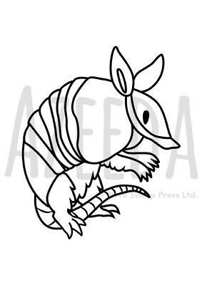 A7 'Armadillo' Unmounted Rubber Stamp (SP00000479)
