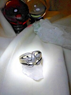 Compelling & Unique WICCAN ASCENDING MASTER Sterling Silver Ring PARA META