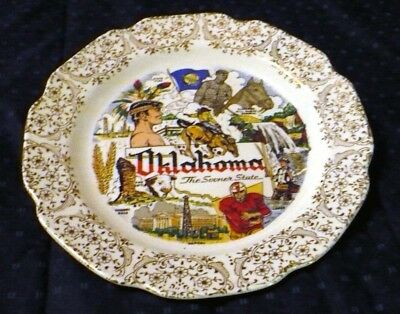 Oklahoma, The Sooner State collectible plate