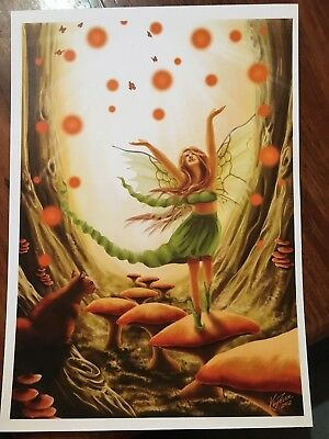 'Forest Frolic' A4 Print *NEW Angels, Spiritual, Pagan, Metaphysical fairy wicca