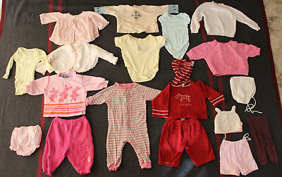 Bulk lot size 00 baby girls clothing (18 items) ZARA OLD NAVY DYMPLES