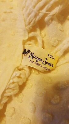 Chenille bedspread, Morgan Jones, yellow, small pops