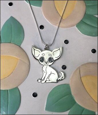 Chihuahua Large Charm Necklace - New - FREE SHIPPING