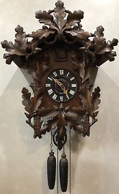 Huge Early Philadelphia Black Forest Cuckoo German Wall Clock