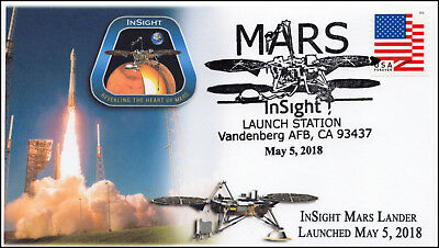 18-300, 2018, Mars InSight, Pictorial, Postmark, Launch Site, Event Cover
