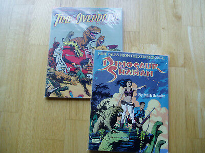 Comic Graphic Novel Lot Schultz Xenozoic Tales Dinosaur Shaman Time In Overdrive