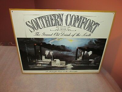 Southern Comfort sign A midnight race on the Mississippi 2001