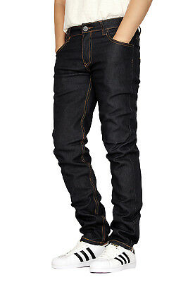 Men's Stretch Skinny Unwashed Raw Denim Jeans Victorious 8 Colors