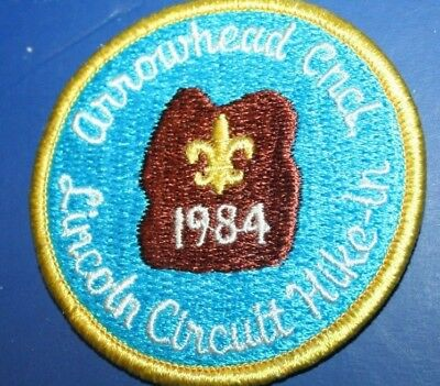 BSA Arrowhead Council Illinois Lincoln Circuit Hike-In 1984 Patch MINT
