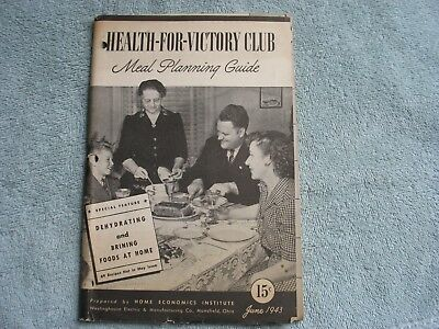1943 Health-For-Victory Club Meal Planning Guide June