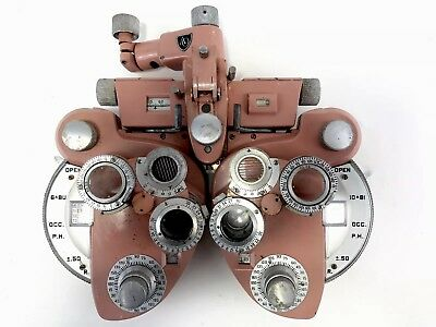 AO American Optical 11320 Phoroptor Ophthalmic Eye Collectible Rare Pink Vintage
