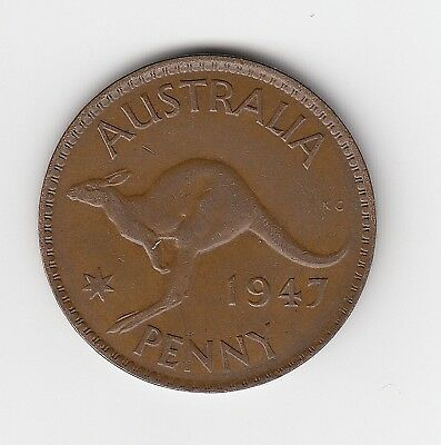 1947M Australia Kgvi Penny - Very Nice Collectable Coin