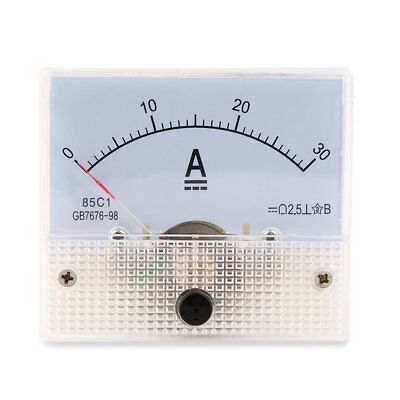 DC 30A Analog Ammeter Panel 0-30A Current Meter Analog Amperemeter Panel L4