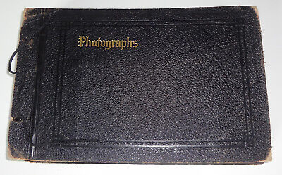Vintage Photo Album Scrapbook With 176 Photos/post Cards-Rppc-Landmarks-Scenery