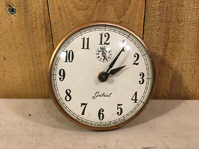 Vintage Lux Gabriel Alarm Clock Movement and Face for Parts / Repair